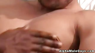 Ebony and white studs ass fucking each other