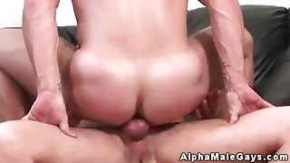 Muscled straight hunk loves cock in ass
