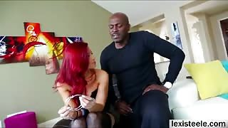 Sexy Ryder Skye loves a sensuous interracial fuck session