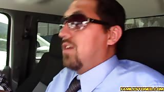 Step dad Juan suck and lick on Lucy Dolls nipples