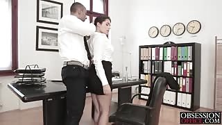 Valentina in a mood to get down to business with her boss