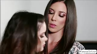 Cheerleader teen Jenna J Ross gets pussy fingered by her horny stepmom Jelena Jensen