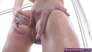 Gorgeous horny babe Amy Brooke fucking a big dick