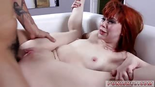 Mom likes it rough with chum and mistress gags slave first time