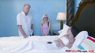 Stepsisters Kharlie Stone and Piper Shares A Bed