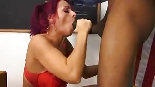 Lovely Redhead Chick Jams Black Dick Up Her Tight Twat