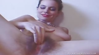 Naughty Girl         Nails Herself Using Favorite Toy
