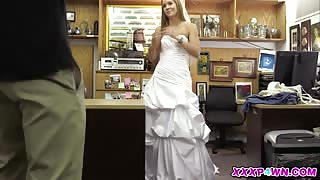 Furious Bride Goes For A Revenge Fuck In The Pawnshop