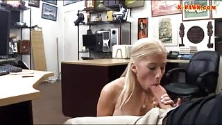 Busty stripper pawns her twat and banged at the pawnshop