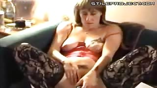 Glass Coke Bottle Pussy Play While Watching TV