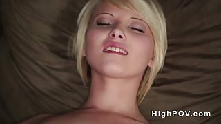 Dude pov banged tattooed blonde beauty