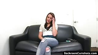 Brunette next door at audition