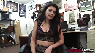 Slutty looking slut Kallie Joe fucks a pawndudes cock