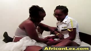 Amazing oral sex action and play with butt plug of two nasty ebony lesbian babes
