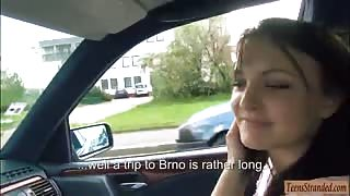Belle Claire hitchhikes and gets twat fucked by stranger guy