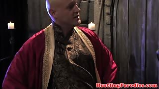 Brandi Love making varys blow his load