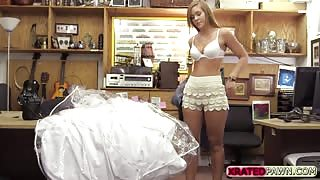 Very desperate blonde Bride sold her pussy for good money