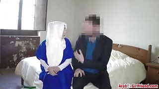 A hotel manager doesn't want to take money form Arab chick he wants her pussy