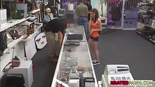 American Cutie gets pounded hardcore in the shop