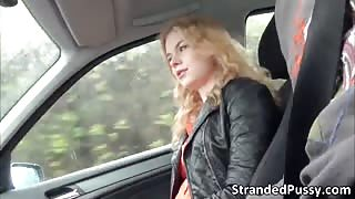 Delightful blonde Nishi gets beat by an enormous dick stranger