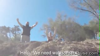 Naughty big ass Latina teen cant escape from border patrol