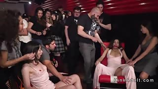 Orgy public fucking and anal fingering