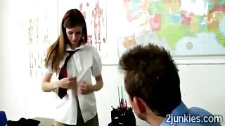 Teacher gives teen Lara Brookes a good private lesson