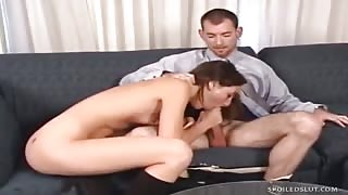 Sexpot Summer Tyme nailed in the mouth and vag