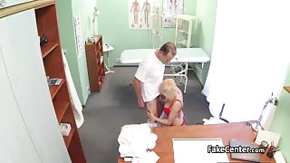 Blonde busty nurse fucked by doctor