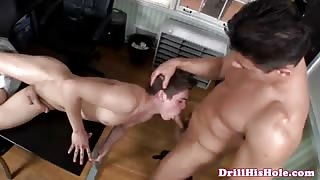 Twinks threesome and cumshot