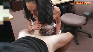 Big titty latina pounded by pawn keeper in the back office