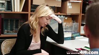 Hot blonde Zoe Parker gets fucked on a desk