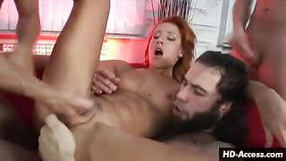 Multiple cocks result in multiple orgasms
