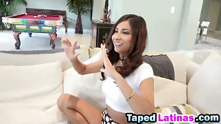 Horny dude taped an amazing sex action with a stunning brunette Latina Jade Jantzen