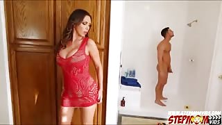 Nikki Benz lures her stepdaughter into threesome with her bf