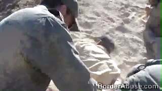 Blonde teen got her pussy inspected by horny border officer