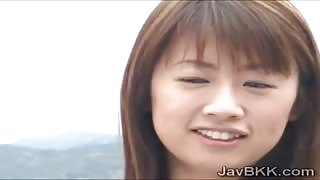 Cockstarving Japanese teen loses her mind with 2 black cocks