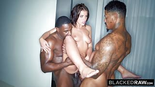 BLACKEDRAW Adrianna Chechik Threesome Fuck