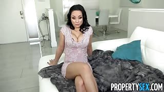 Crystal Rush Russian Landlady fucks for rent