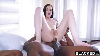 BLACKED Marley Brinx hardcore group fuck