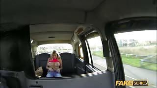 Fake cab driver gets so lucky with his busty passenger