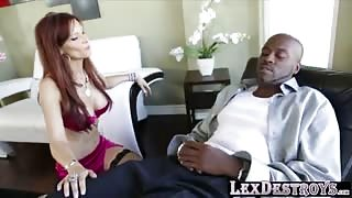 Busty sextherapist Syren De Mer helps out Lex to become sexually active