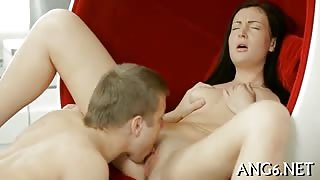 Entralling pussy pleasuring session