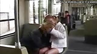 All Aboard The Lesbian Bus - Two Chicks Having Sexy Times On Bus