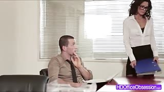 Hot Secretary Alexa Tomas fucked hard by his workmate at the officemate