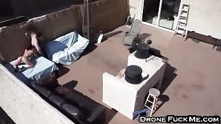 Jennifer White Filmed By Drone Doggy Style Roof