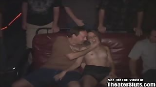 Petite Tiny Tit Teen Anal Fucked Theater Gangbang