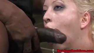 Restrained subs interracial dp ffm