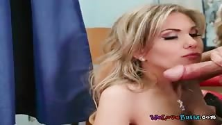 Hottie Aubrey Addams Sucks And Rides Sales Assistant