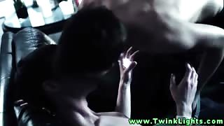 Horny twink vampire amateurs give head